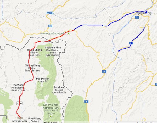 Карта дорог Лаоса