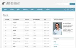 Шаблон учебного сайта